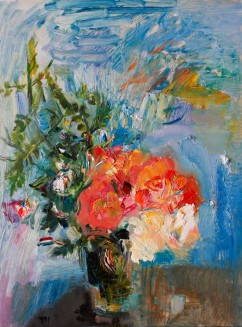 Jasmine and Garden Roses in the Patio (SOLD)
