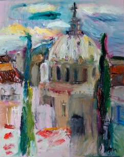 Cartagena, View of Basilica of Our Lady of Charity from the Roman Forum (SOLD)