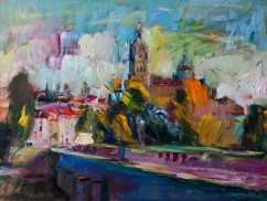 Autumn in Salamanca: Abstract Spanish Cityscape (SOLD)
