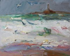 Stormy Sea and Seagul (SOLD)