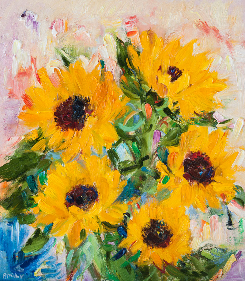 Sunflowers - Original Oil Painting, Canvas