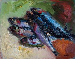 Still Life with Anchovies (SOLD)