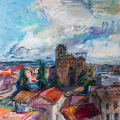 The view of the Basilica de San Vicente from the Walls of Avila (SOLD)