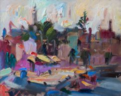 Busy Morning Marina (SOLD)